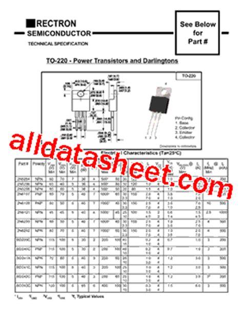 transistor tip31c datasheet tip31c datasheet pdf rectron semiconductor