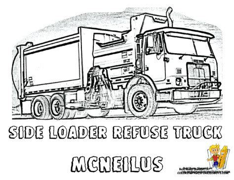 coloring page trash truck grimy garbage truck coloring side loaders http www