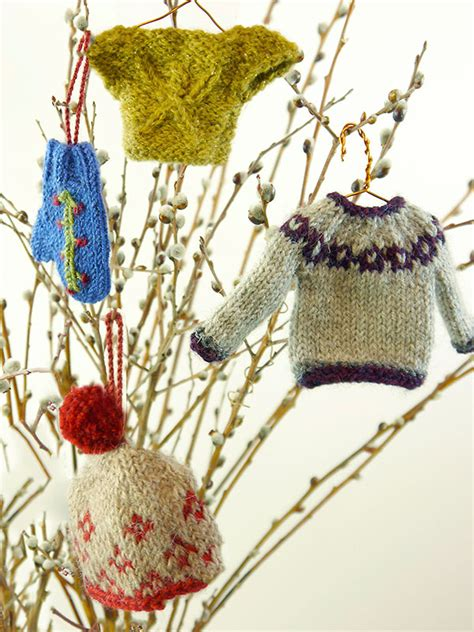knitting pattern miniature sweater ornament miniature sweater ornaments knitting bee