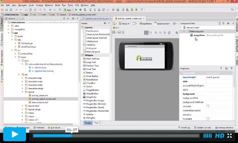 tutorial programacion android studio pdf videotutorial proyecto para mostrar el uso de android
