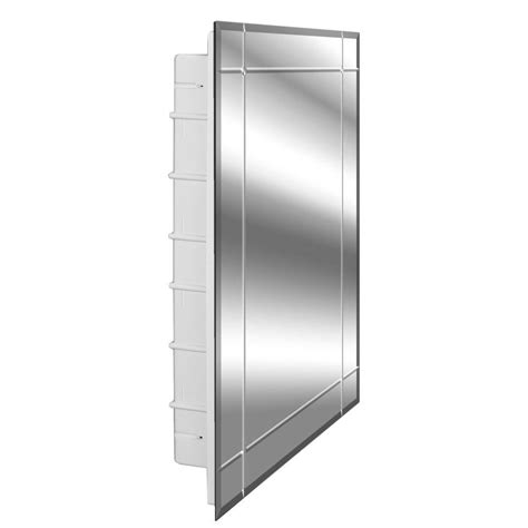 frameless mirrored medicine cabinet zaca spacecab vega 16 in x 26 in x 3 1 2 in frameless