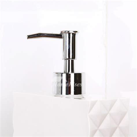 Modern Bathroom Soap Dispenser Simple Modern White Plastic Bathroom Liquid Soap Dispenser