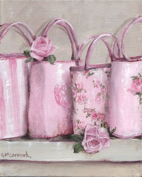 Tas Handbag Chic Pink print on paper assortment of bags gail mccormack artist bag and printing