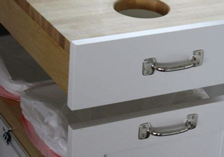 cutting board drawer above trash can cutting board drawer over garbage now that is