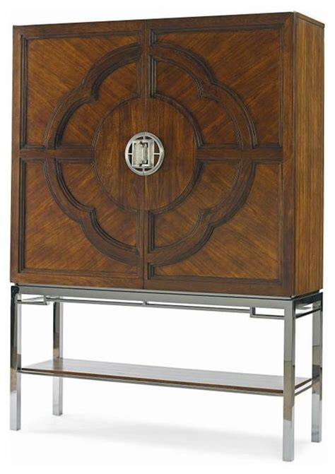 lotis bar cabinet modern wine and bar cabinets by century furniture