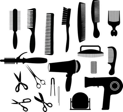 twist hairstyle tools clipart icons free hair stylist black and white clipart collection