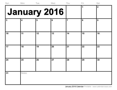 Printable Calendar December 2015 And January 2016 | 8 best images of 2016 calendar printable january through