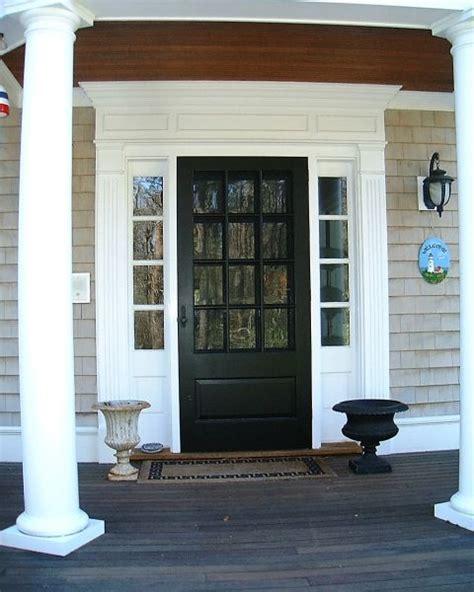 colonial exterior front door entry trim mudroom