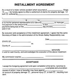 Installment Payment Agreement Template by Installment Agreement 5 Free Pdf