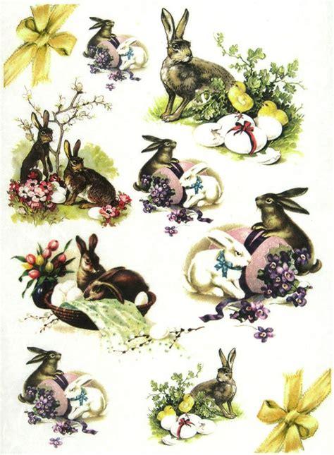 Easter Decoupage - ricepaper decoupage paper scrapbooking sheets vintage