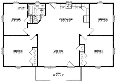 Certified Floor Plan Pioneer Floor Plan 28pr1204 28 28x40 House Plans