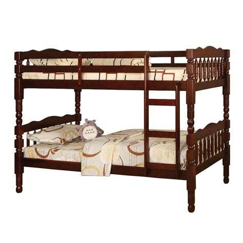 Cherry Bunk Beds by Cherry Finish Solid Wood Bunk Bed