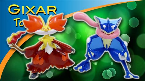 y figures toys delphox and greninja figures from xy