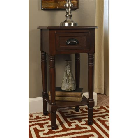 espresso accent table shop espresso end table at lowes com