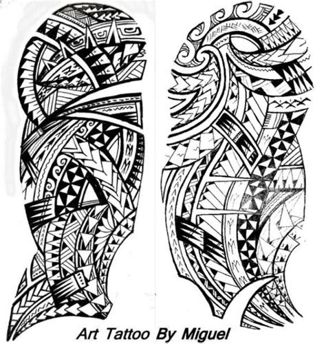 quarter sleeve tattoo stencil miguel s polynesian half sleeve tattoo design tattoo