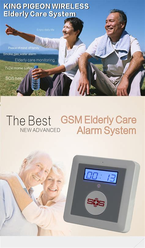 elderly safety gsm wireless home security alarm system
