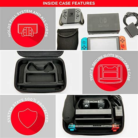 Rds Nintendo Switch Deluxe System nintendo switch deluxe system securely holds complete nintendo switch system including