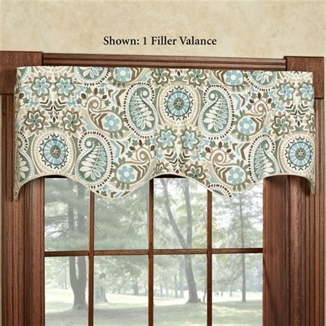 paisley valance curtains paisley prism window valance