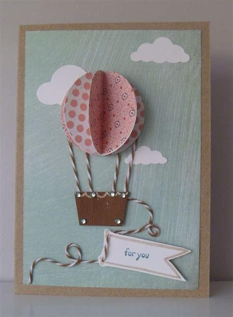 Handmade Air Balloon - my air balloon card do it yourself