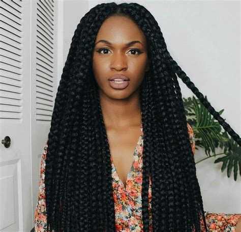 short box braids hairstyles lose ends large loose box braids summer 2k16 pinterest braids