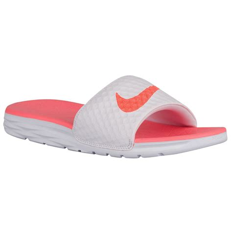 nike slide sandals womens nike benassi s solarsoft slide sandals buyma