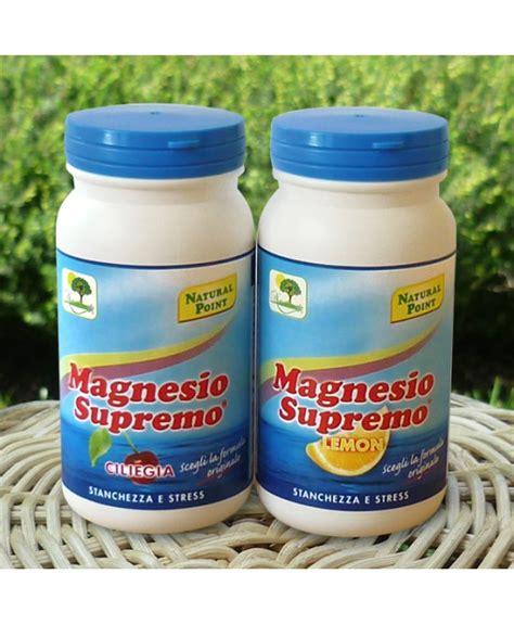 magnesio supremo capsule integratori magnesio magnesio e potassio luccafarma it