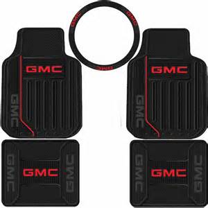 Gmc Floor Mats 5pc Gmc Elite Logo Front Rear Rubber Floor Mats Steering