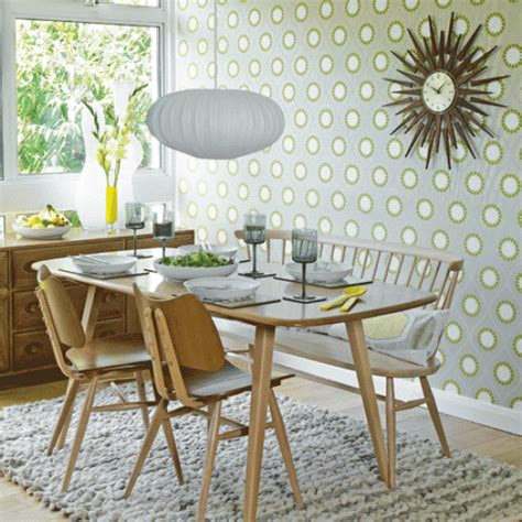 retro dining room retro geometric wallpaper dining room wallpaper ideas