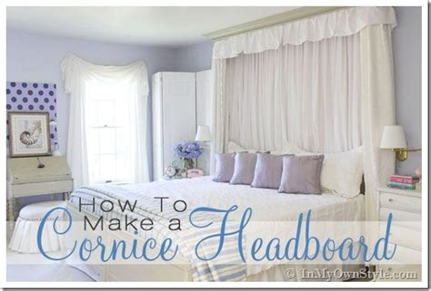 how to make my own headboard how to make a cornice headboard in my own style