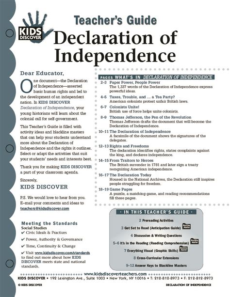 up letter declaration of independence lesson plan the declaration discover