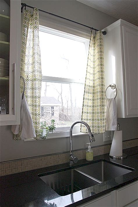 curtains for kitchen window above sink curtain call