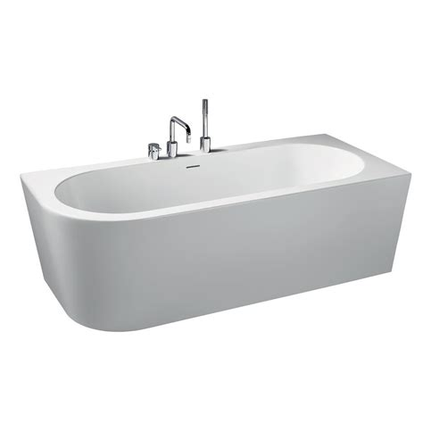 right hand bathtub bormida 180 x 80cm asymmetric double ended baths right