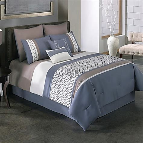 Bed Bath And Beyond Comforter Sets by Covington 6 8 Comforter Set In Blue Bed Bath Beyond