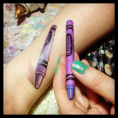 crayon tattoo 50 great tattoos inspired by children s books neatorama