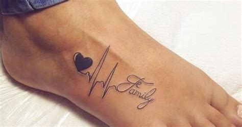 tattoo family unendlich love heartbeat family tattoo tattoos pinterest