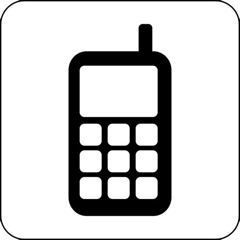 clipart cellulare cell phone icon images usseek