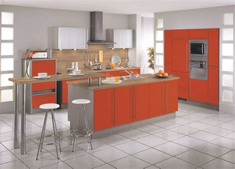 Kitchen Island Wall | modern red beige kitchen island wall cabinets design