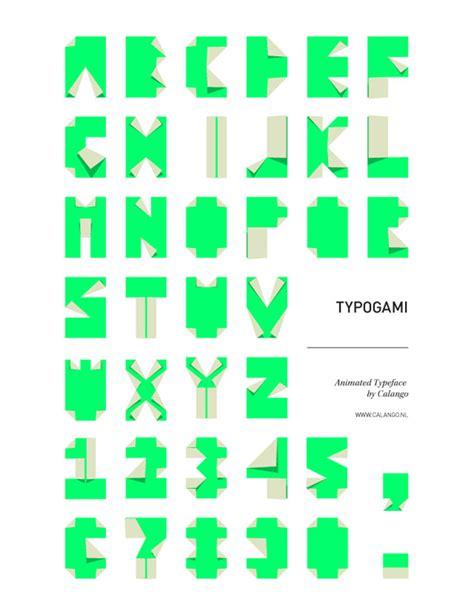 Origami Typeface - typogami l de la typographie et de l origami
