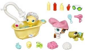 Lps Bathroom Littlest Pet Shop Bathtime Playpack Figures