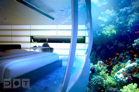 bedroom under water stunning underwater hotel the water discus