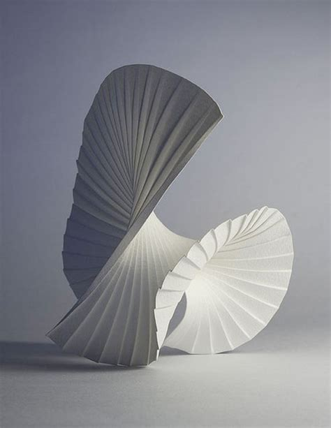 How To Make A Paper Sculpture - finds paper by richard sweeney the bohmerian