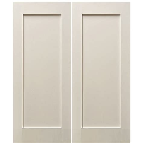 2 Panel Shaker Interior Doors Escon Doors Mp6001wp 2 1 Panel Primed White Shaker Style Interior Door At Doors4home