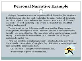 What Is A Personal Narrative Essay by Personal Narrative Notes