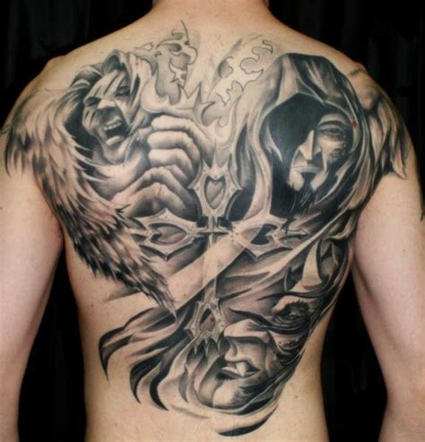 angel and demon tattoos 27 and tattoos