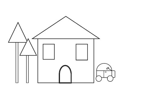 printable of house coloring pages free printable shapes coloring pages for