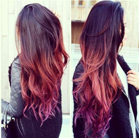 ombre hair tan skin anime girl tan skin with purple brown braided hair