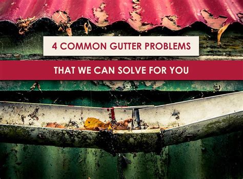4 common gutter problems that we can solve for you