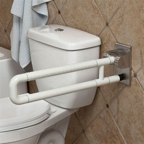 floor mounted grab bars for bathrooms marion wall to floor grab bar off white grab bars