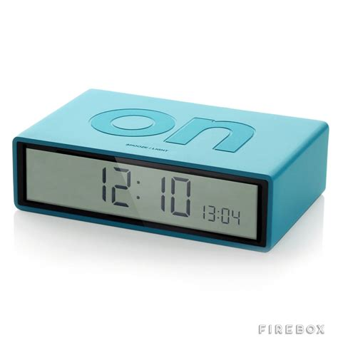 minimalist alarm clock simple flip over alarm clock the green head
