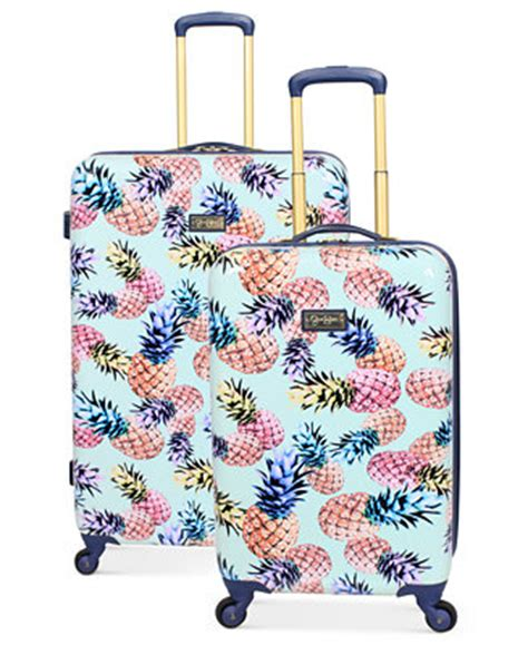 Jessica Simpson Pineapple Hardside Spinner Luggage